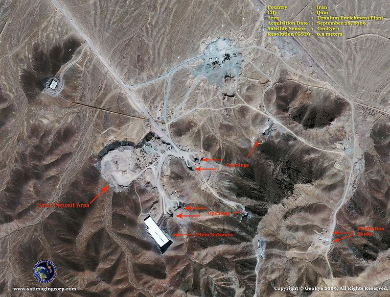 GeoEye-1 Satellite Image of Nuclear Facilities in Iran