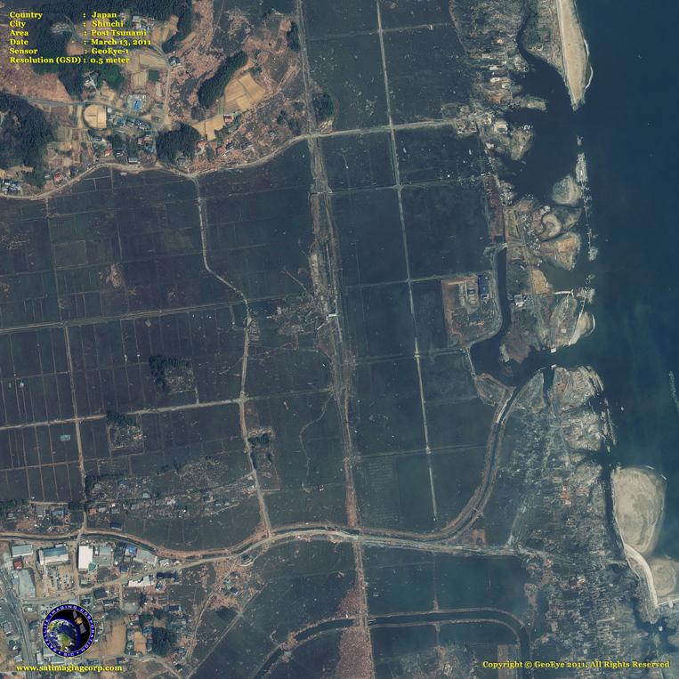 GeoEye-1 Satellite Image of Shinchi, Japan