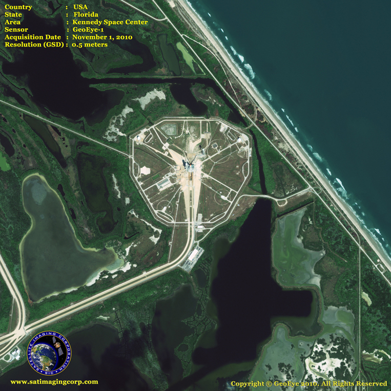 GeoEye-1 Satellite Image of the Kennedy Space Center