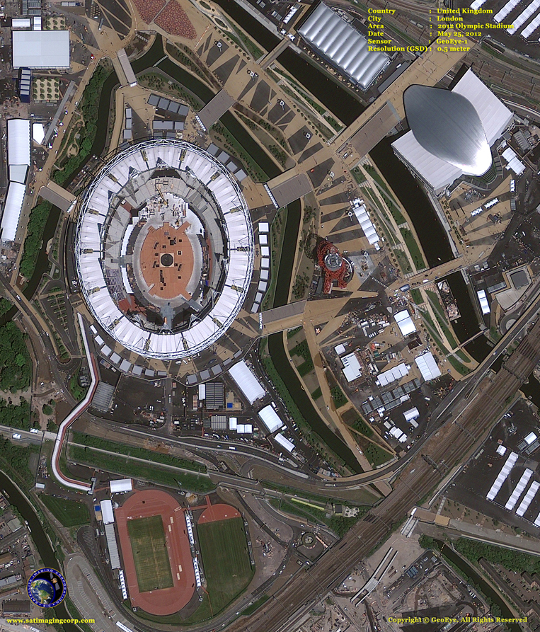 GeoEye-1 Satellite Image of the London Olympics Site