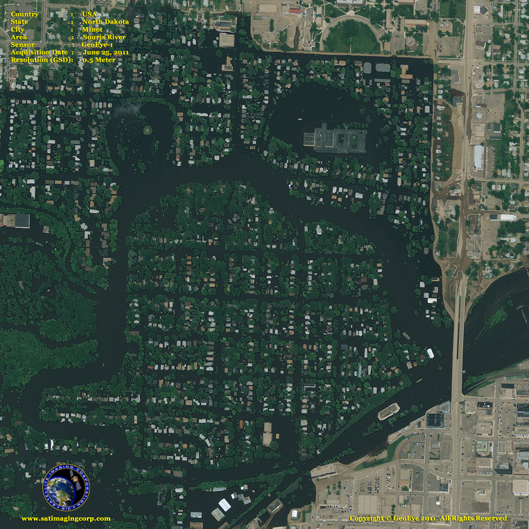 GeoEye-1 Satellite Image of Minot, North Dakota