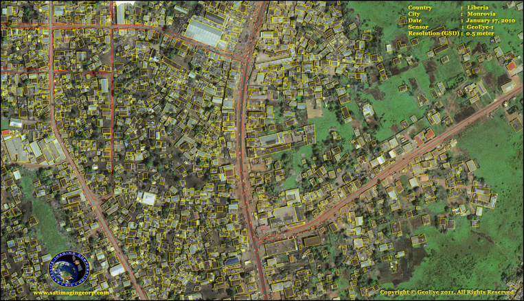 GeoEye-1 Satellite Image of Monrovia, Liberia