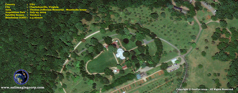 GeoEye-1 Satellite Image of the Monticello House