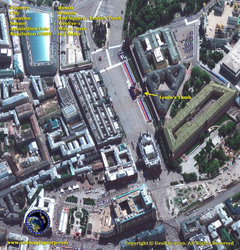 GeoEye-1 Satellite Image of Lenin's Tomb