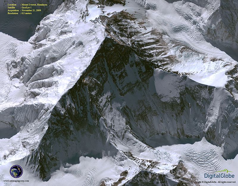GeoEye-1 Satellite Image of Mount Everest | Satellite Imaging Corp