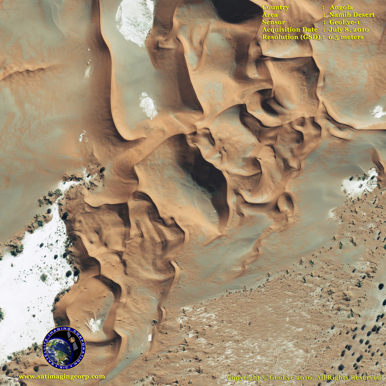 GeoEye-1 Satellite Image of the Namib Desert