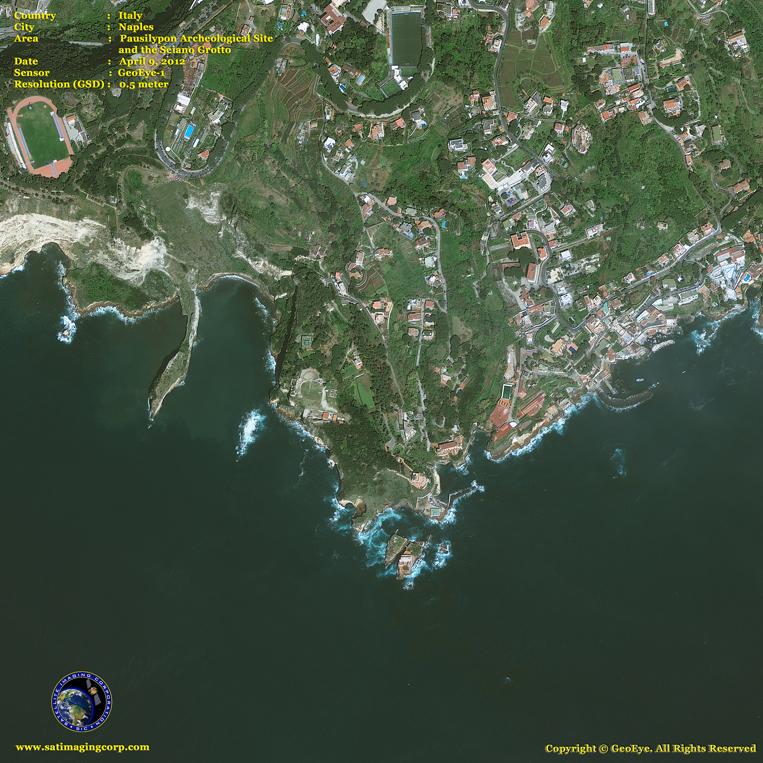 GeoEye-1 Satellite Image of Tsunami Aftermath