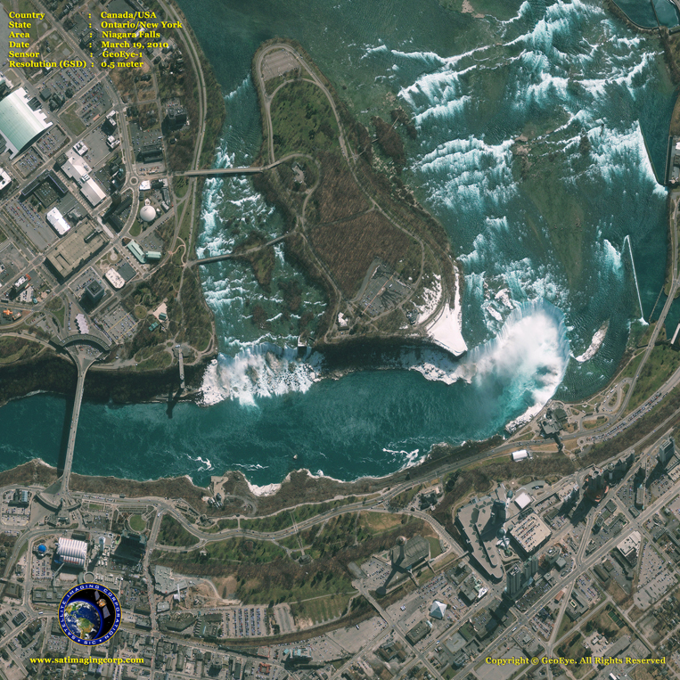 GeoEye-1 Satellite Image of Niagara Falls