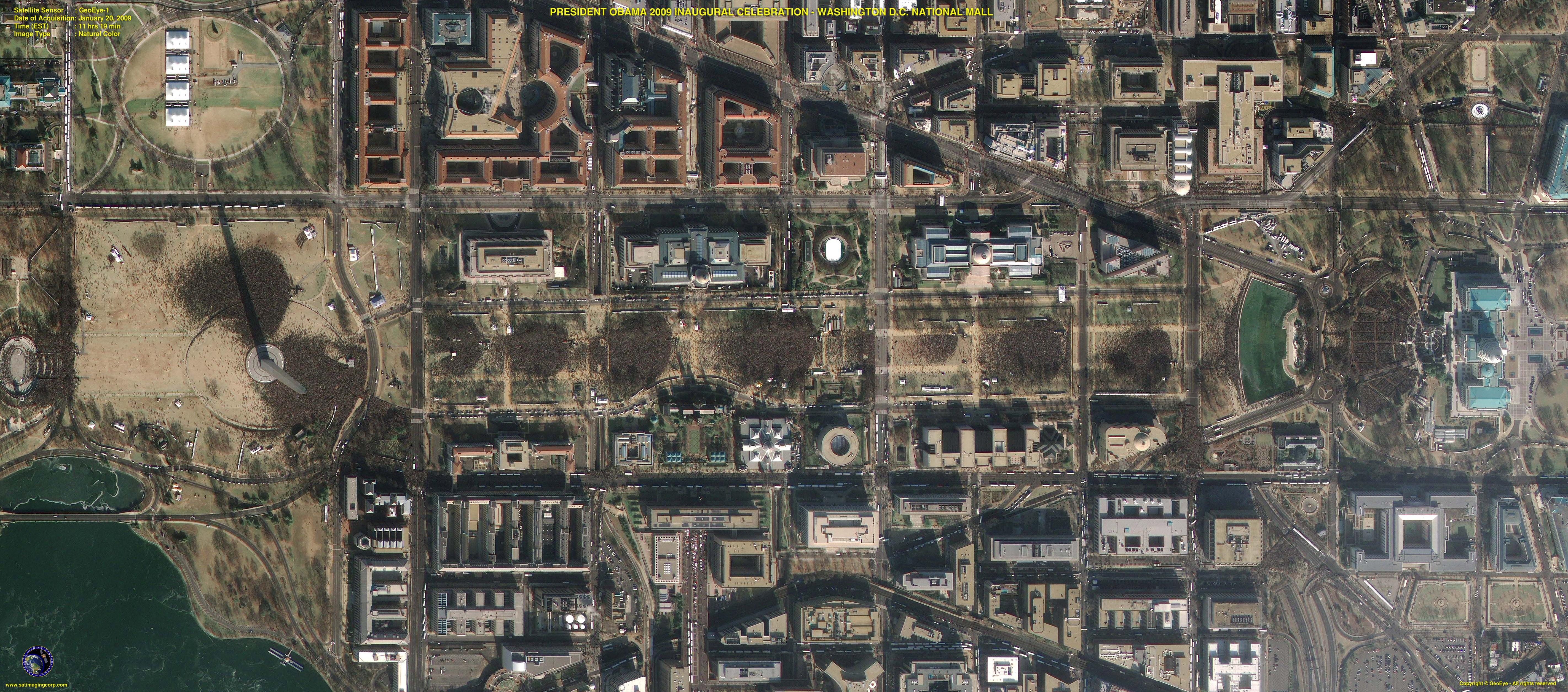 Geoeye 1 Satellite Image Obama Inauguration Satellite