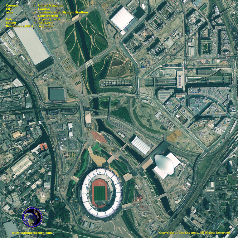 GeoEye-1 Satellite Image of Olympic Stadium