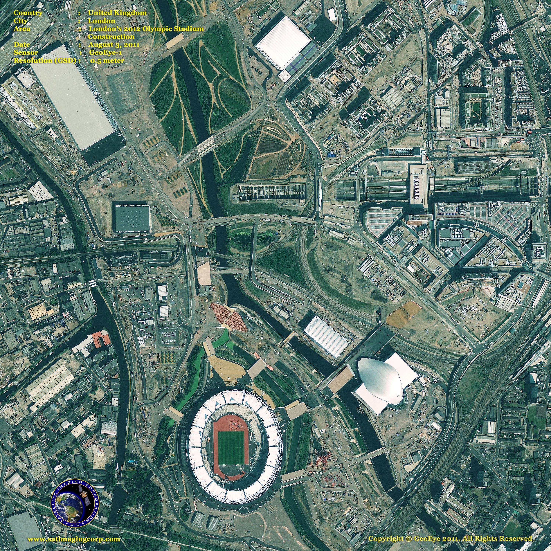 GeoEye1 Satellite Image of Olympic Stadium  Satellite Imaging Corp