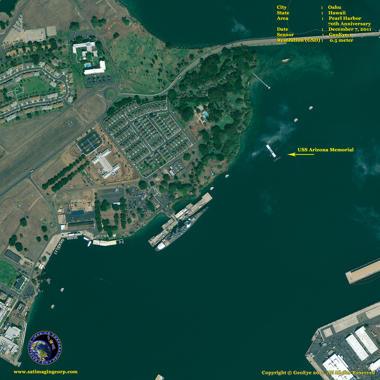 GeoEye-1 Satellite Image of Pearl Harbor