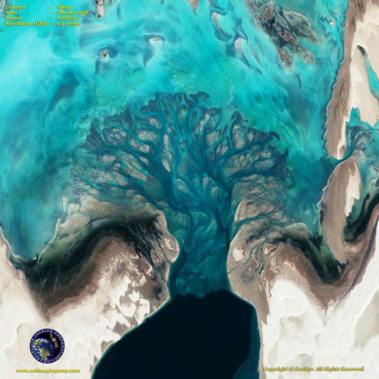 GeoEye-1 Satellite Image of the Persian Gulf