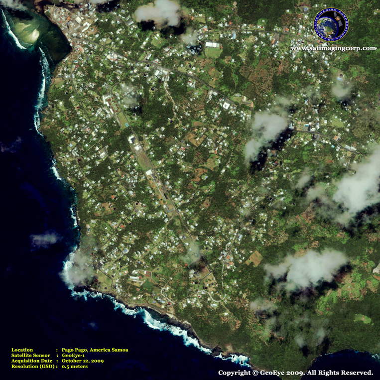 GeoEye-1 Satellite Image of Pago Pago, American Samoa