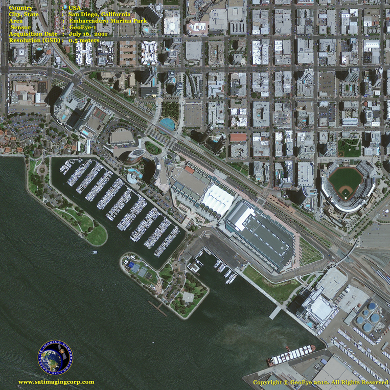 GeoEye-1 Satellite Image of San Diego, California