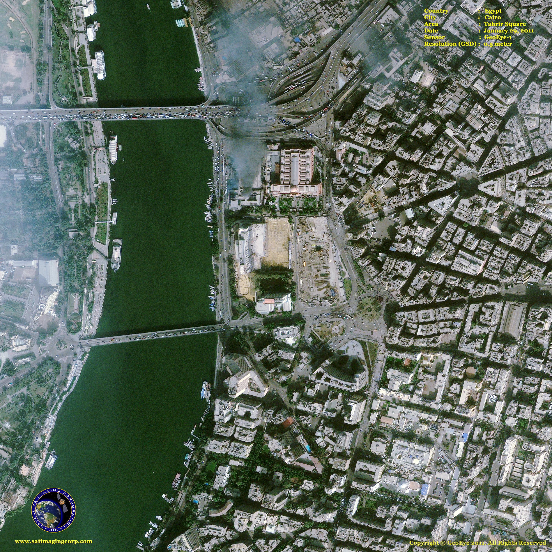 GeoEye Satellite Image Tahrir Square In Cairo Satellite - Digital satellite map