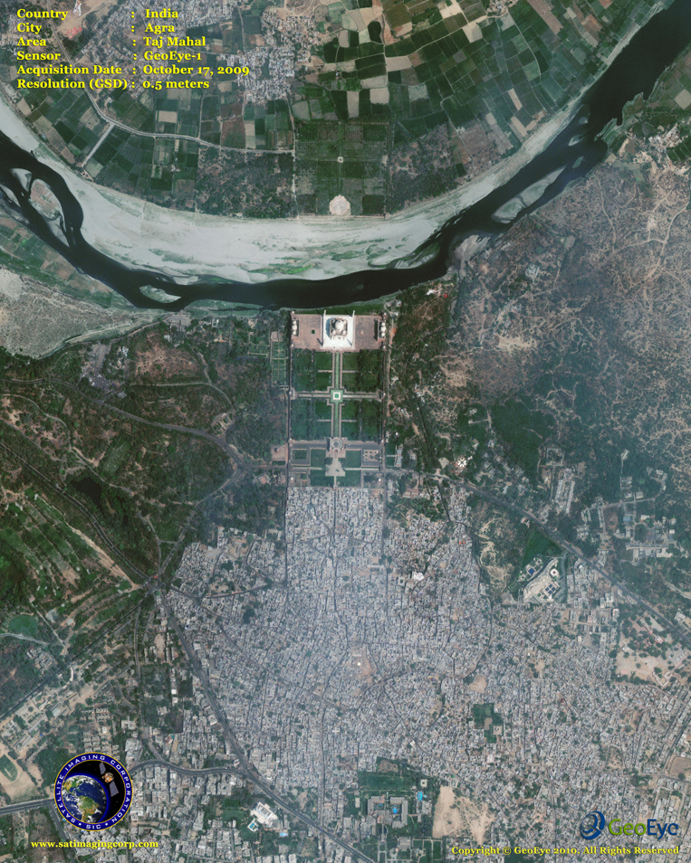 GeoEye-1 Satellite Image of the Taj Mahal