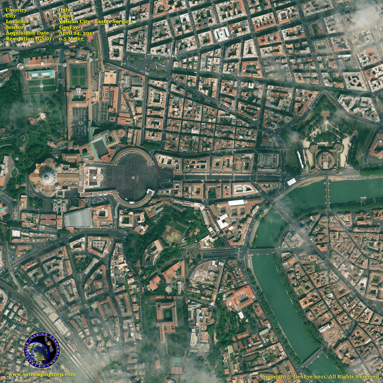 GeoEye-1 Satellite Image of Vatican City