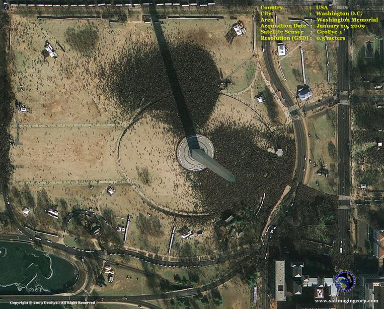 GeoEye-1 Satellite Image of the Washington Monument