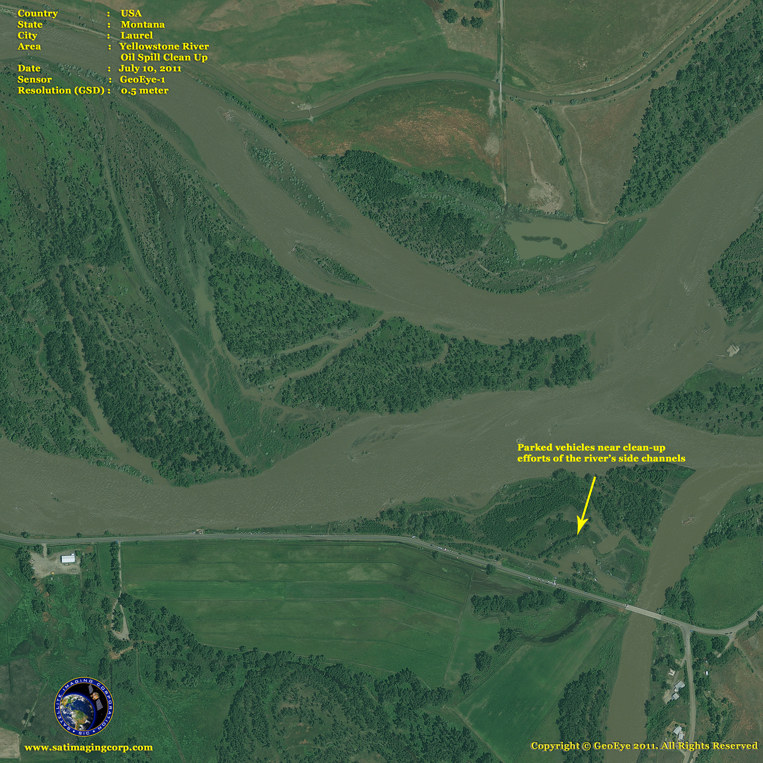 GeoEye-1 Satellite Image of the Yellowstone River