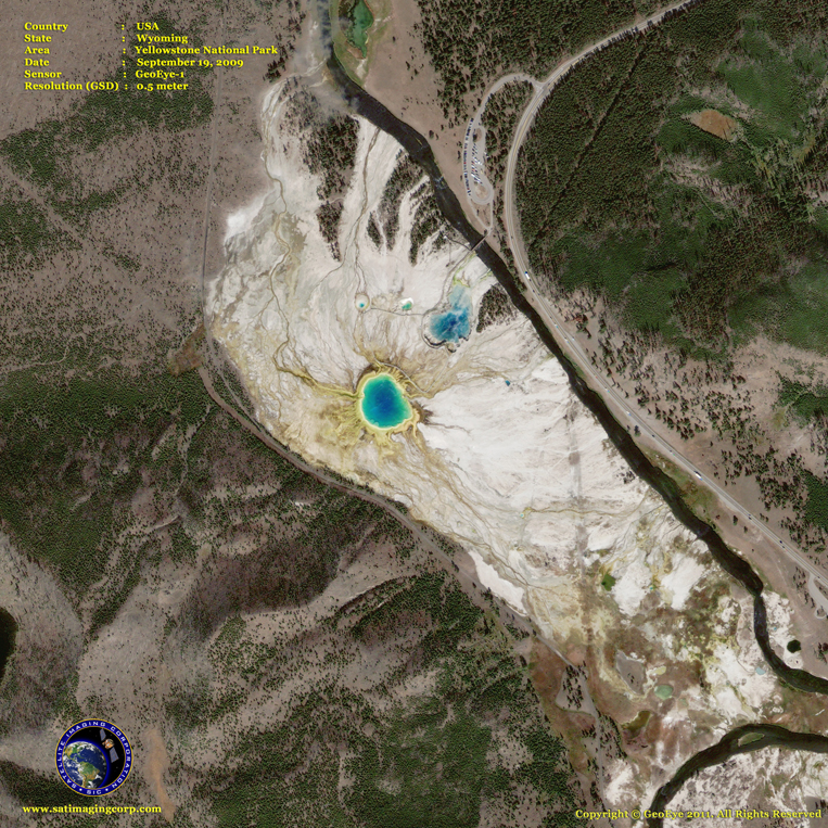 GeoEye-1 Satellite Image of Yellowstone
