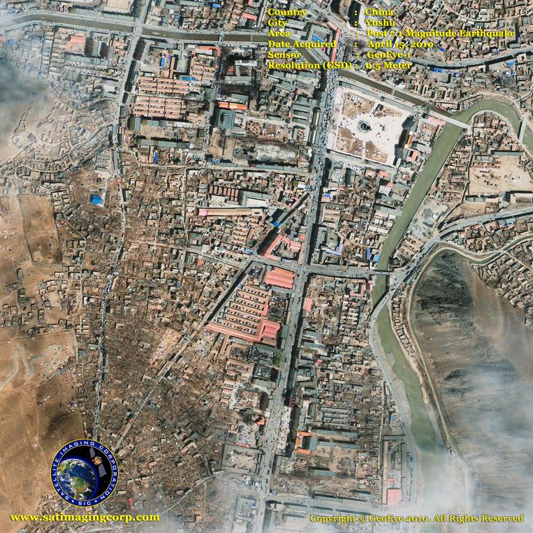 GeoEye-1 Satellite Image of Yushu, China