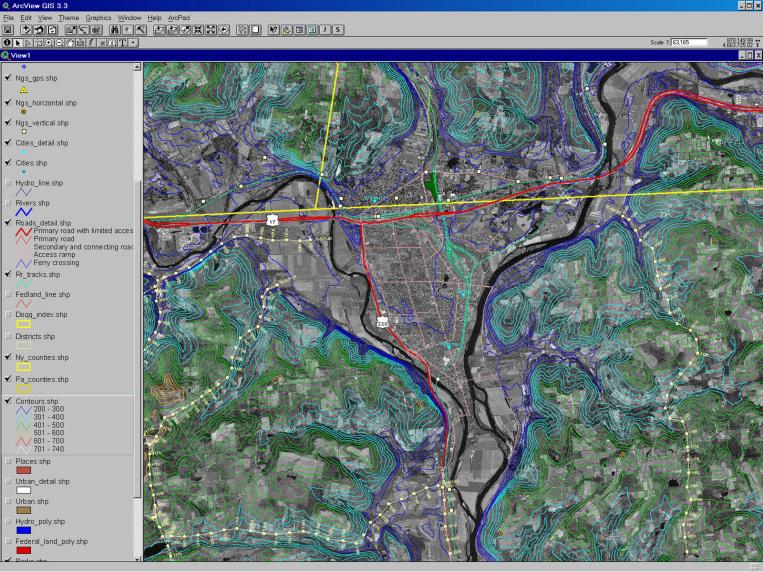 GIS Map: Appalachian Basin - ArcView for Terrain Exploration