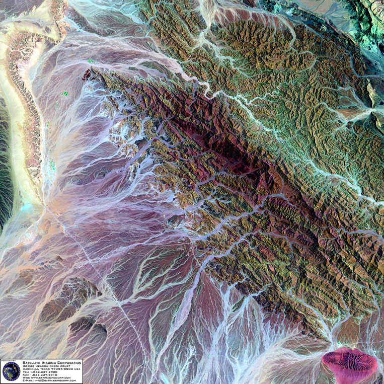 Satellite Image of Oman (Landsat)