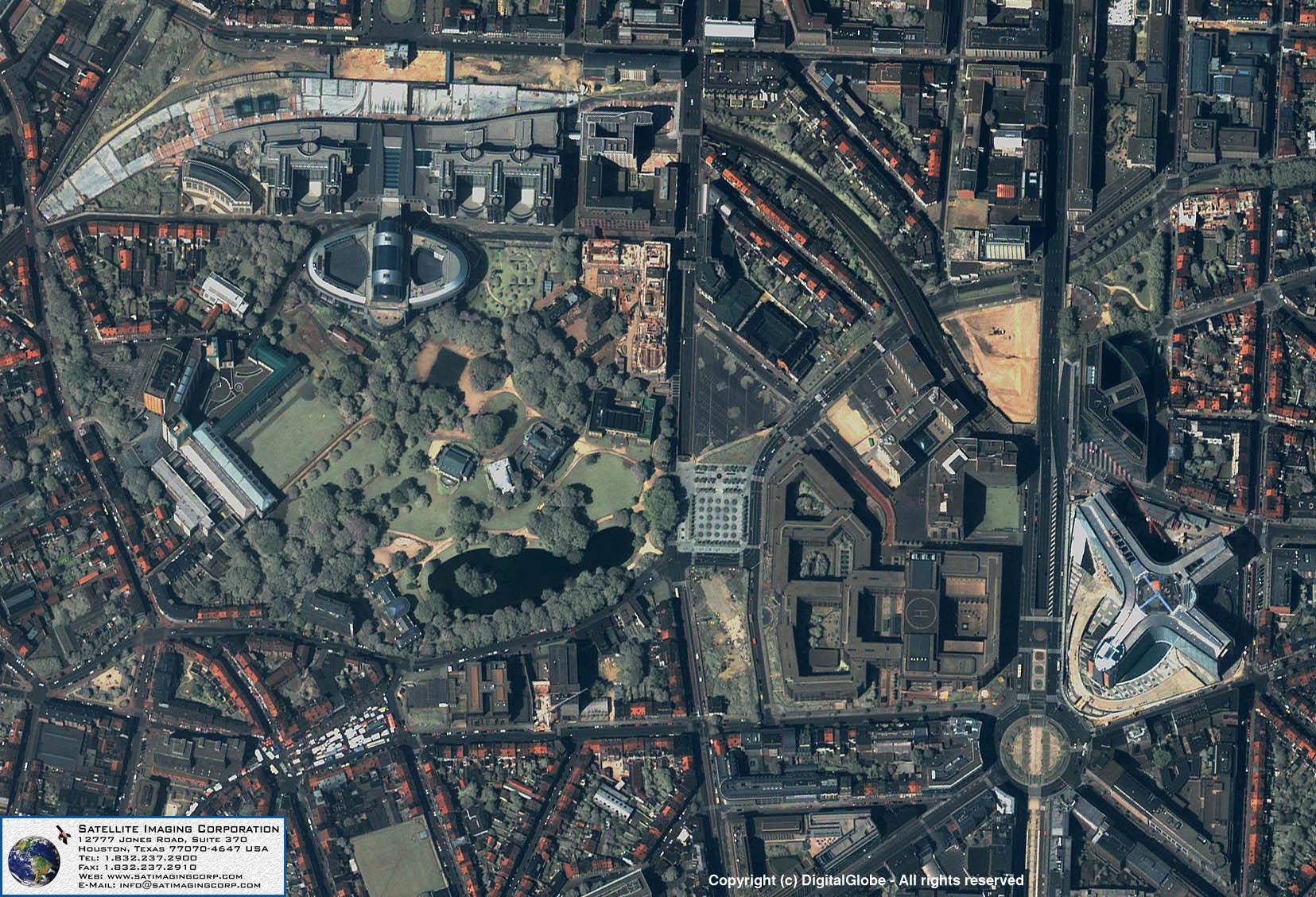 Quickbird Satellite Image Of Brussels Belgium Satellite