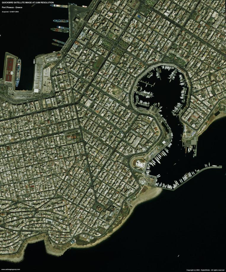 QuickBird Satellite Image of Port Piraeus, Greece