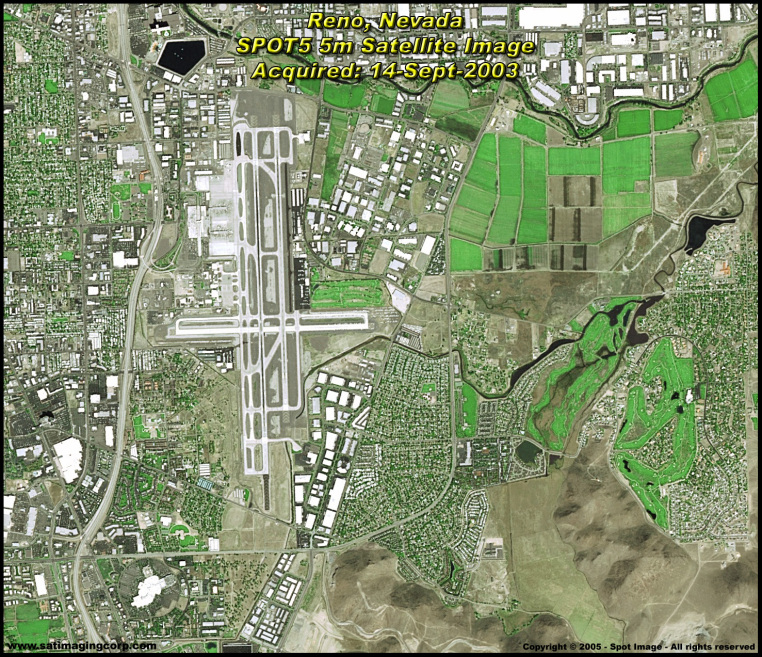 Satellite Image of Reno, Nevada (SPOT-5)