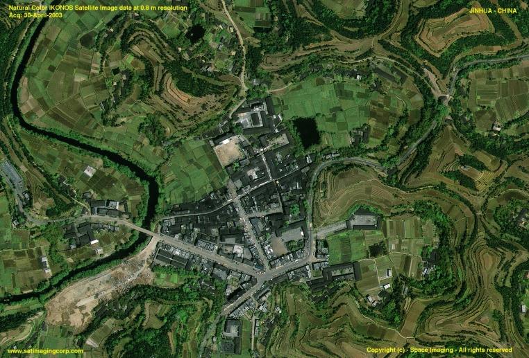 IKONOS Satellite of Jinhua, China