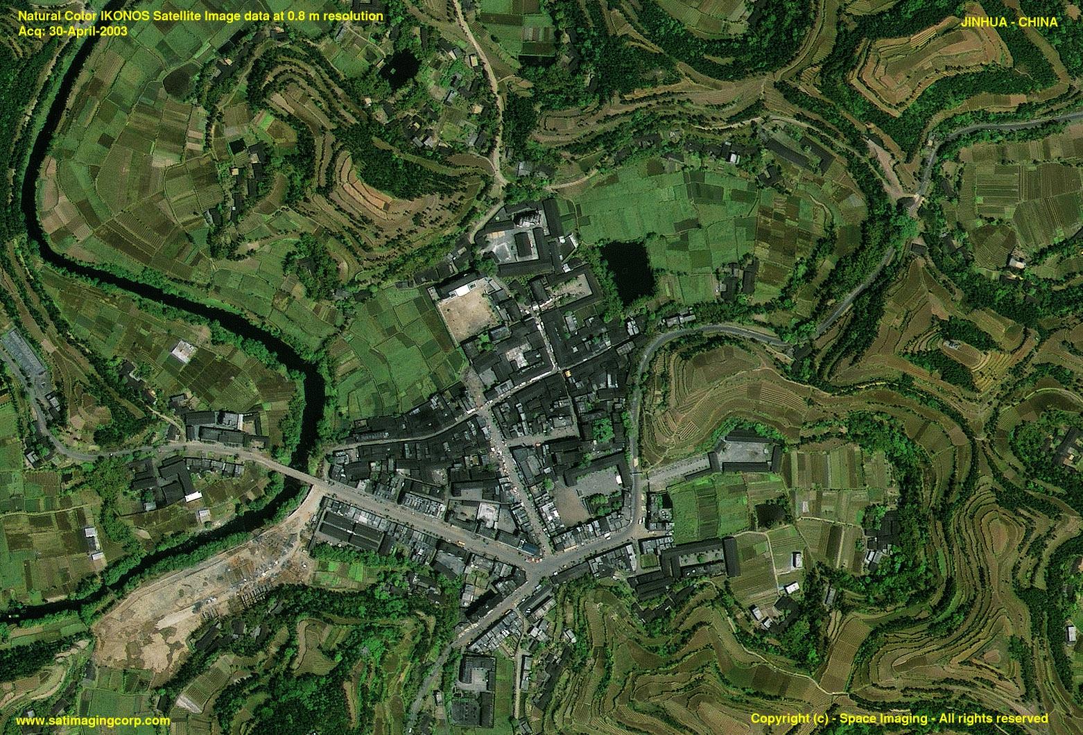 Jinhua China  City pictures : IKONOS Satellite Image of Jinhua, China | Satellite Imaging Corp