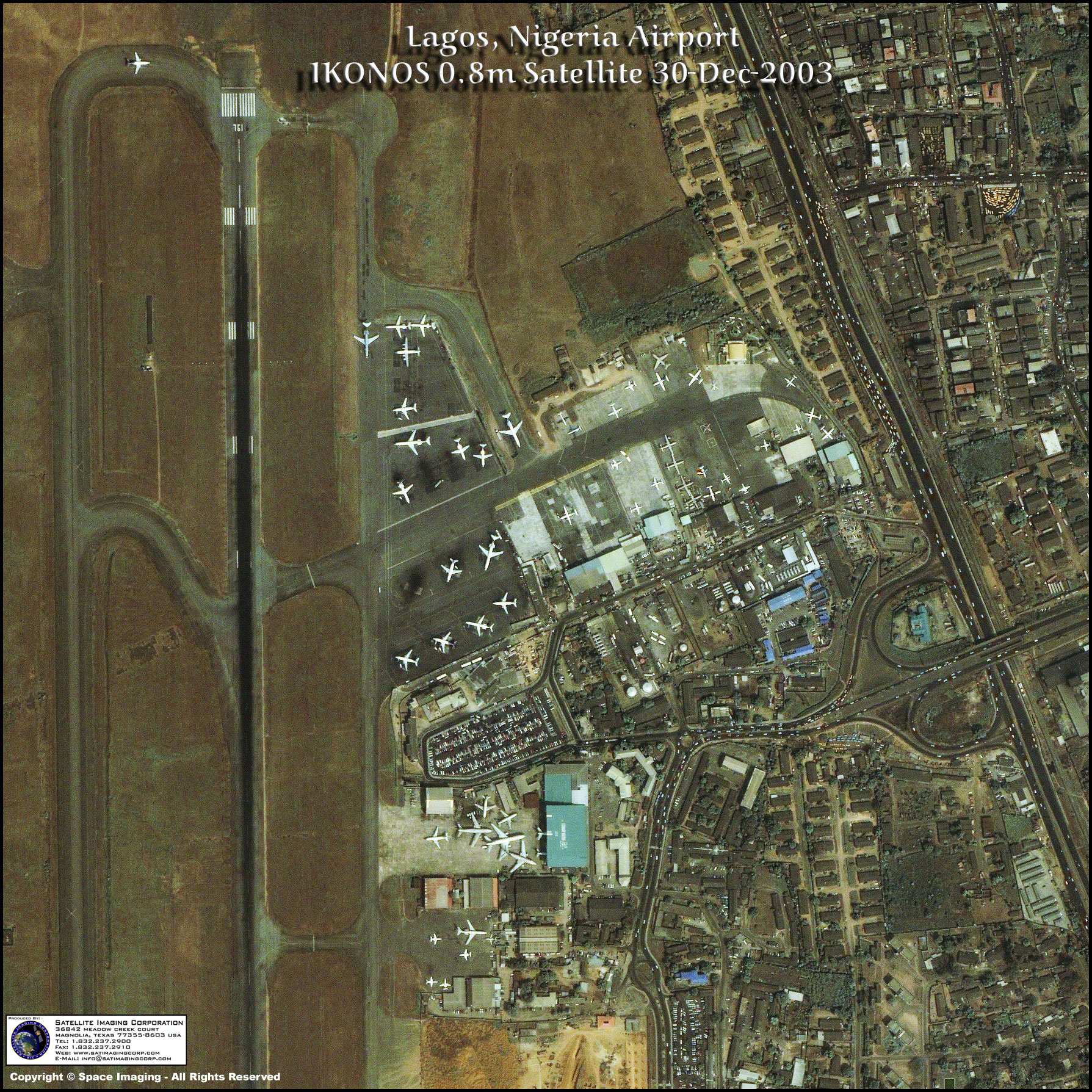 IKONOS Satellite Image Of Lagos Nigeria Satellite Imaging Corp - Satellite images of