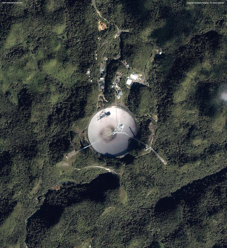 IKONOS Satellite Image of Arecibo Radio Telescope, Puerto Rico