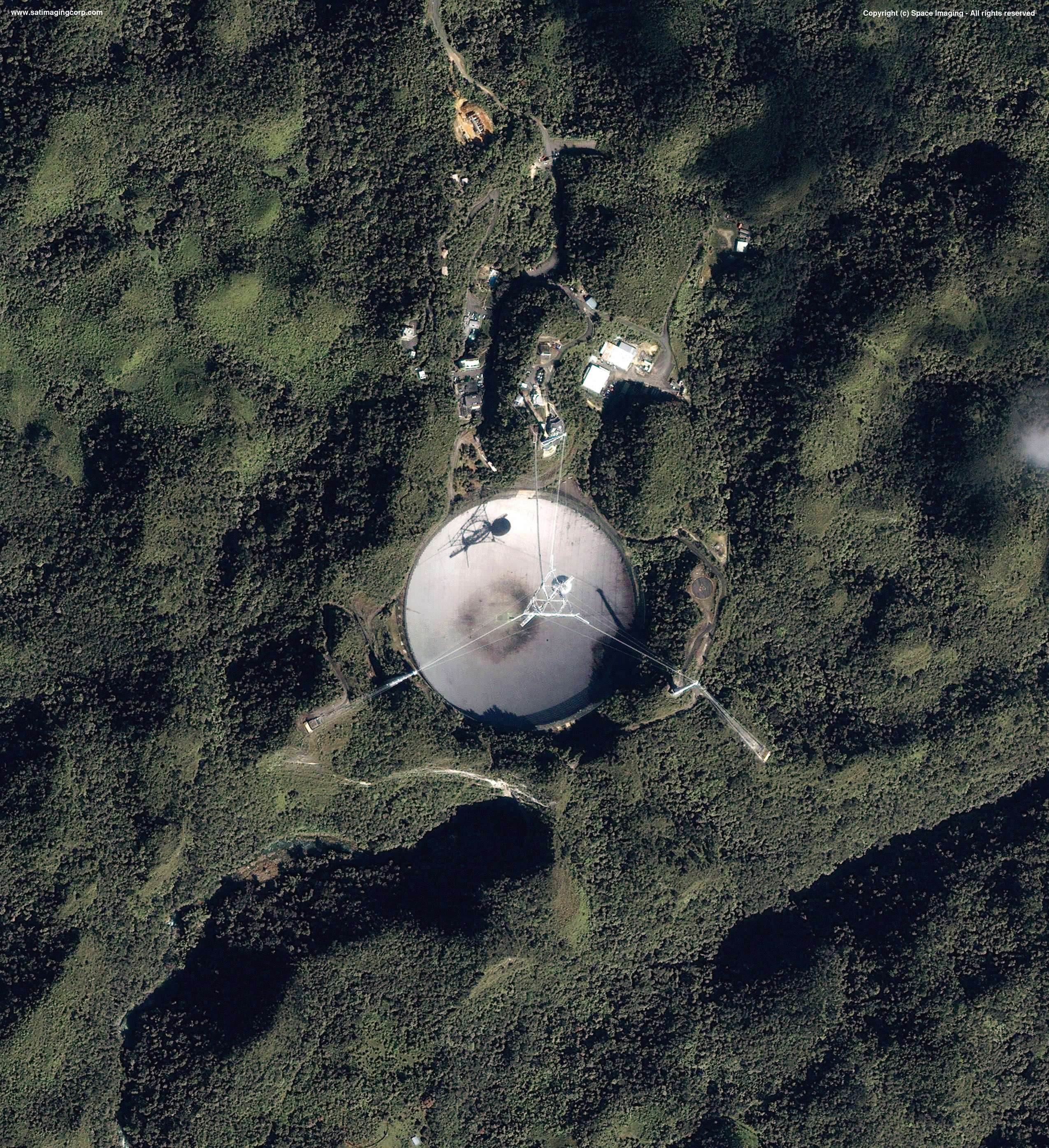 IKONOS Satellite Image Arecibo Radio Telescope | Satellite ...