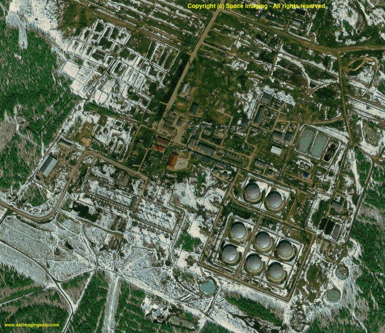 IKONOS Satellite Image of Oil Facility - Siberia, Russia