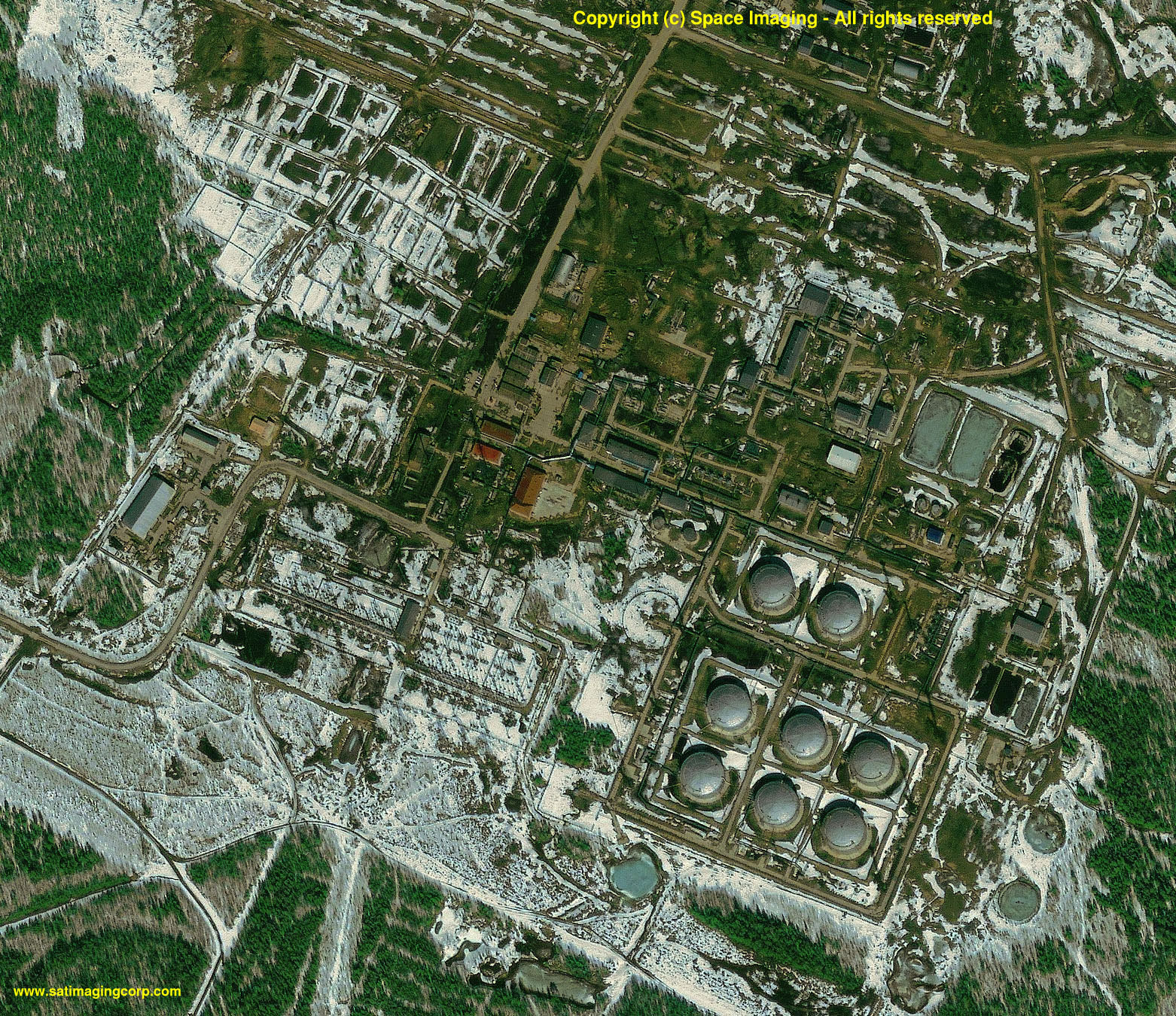 IKONOS Satellite Image Oil Facility Siberia Satellite Imaging Corp