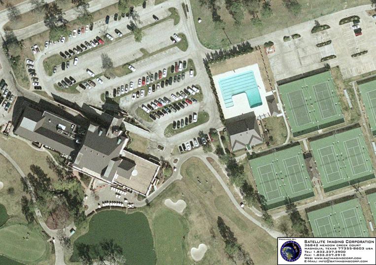 Digital Aerial Photograph of Ravenaux Country Club - Houston, Texas