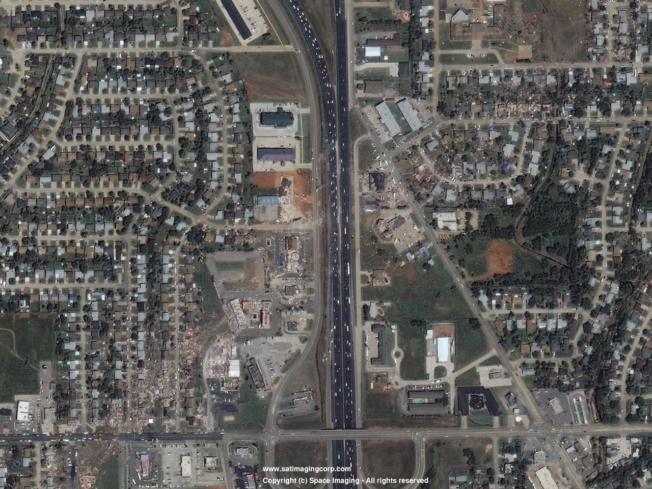IKONOS Satellite Image Tornado Damage, Oklahoma ...