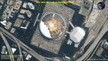 QuickBird satellite image of the New Orleans Superdome during Hurricane Katrina by Satellite Imaging Corporation