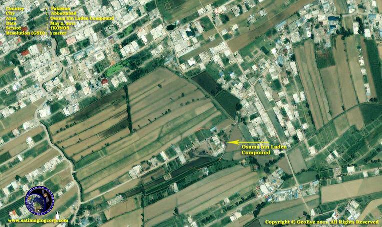 IKONOS Satellite Image of Abbottabad, Pakistan