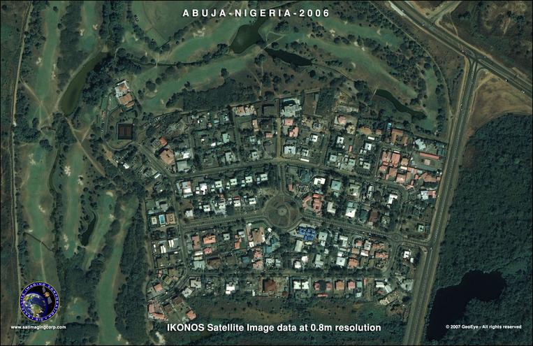 GIS Satellite Image - ABUJA, Nigeria