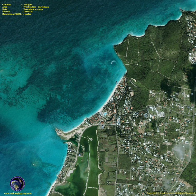 IKONOS Satellite Image of Antigua