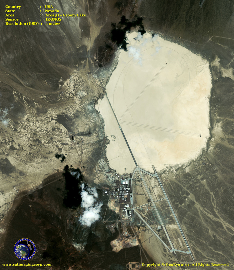 IKONOS Satellite Image of Area 51