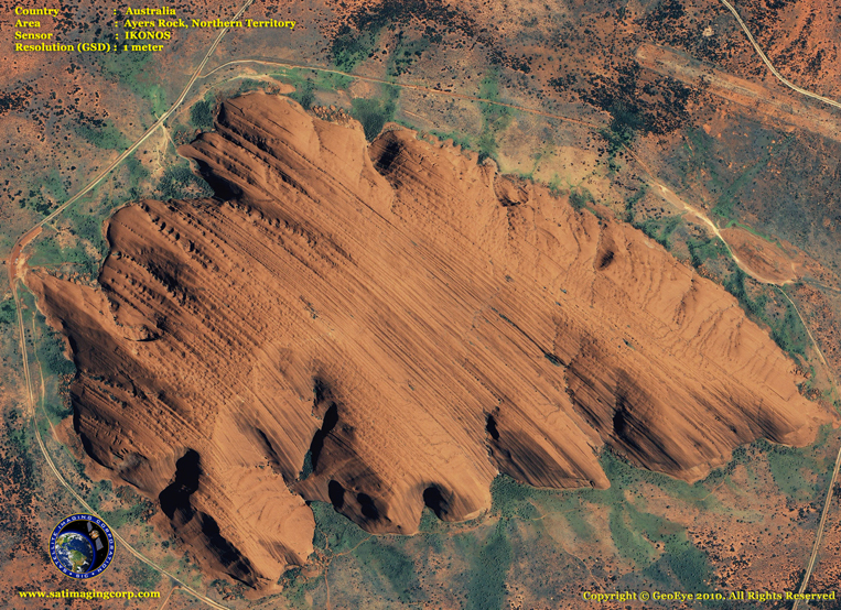 IKONOS Satellite Image of Ayers Rock