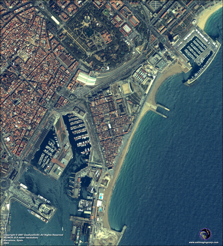 Satellite Photo - Barcelona, Spain