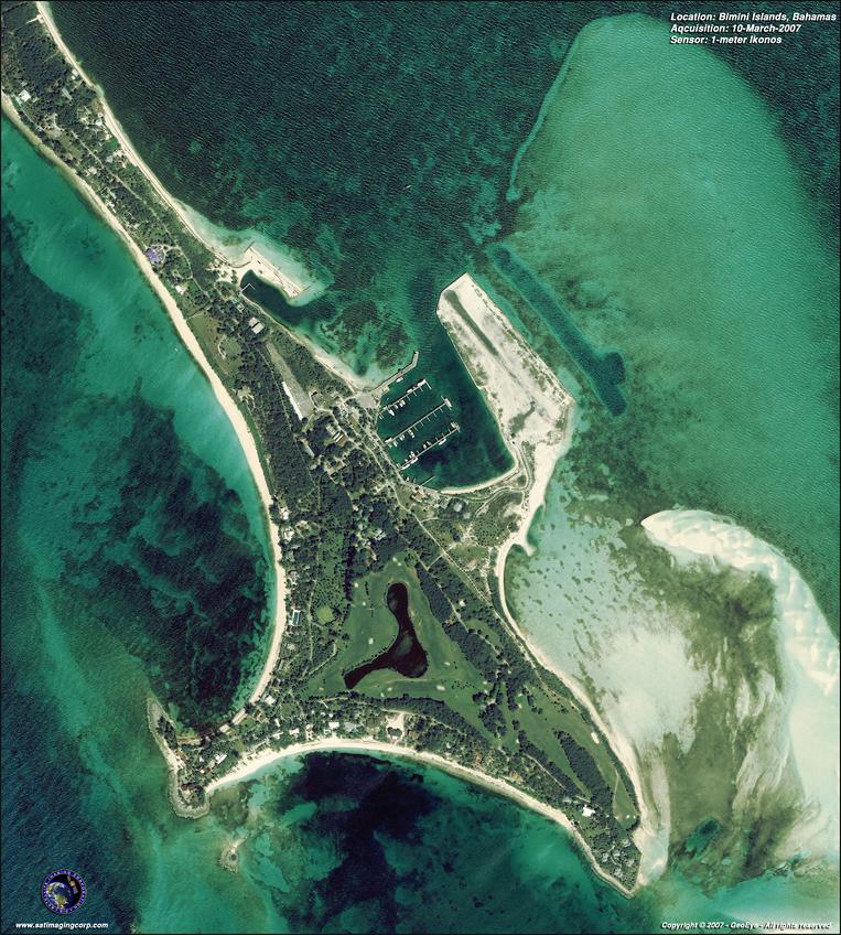 IKONOS Satellite Image of Bimini Islands, Bahamas