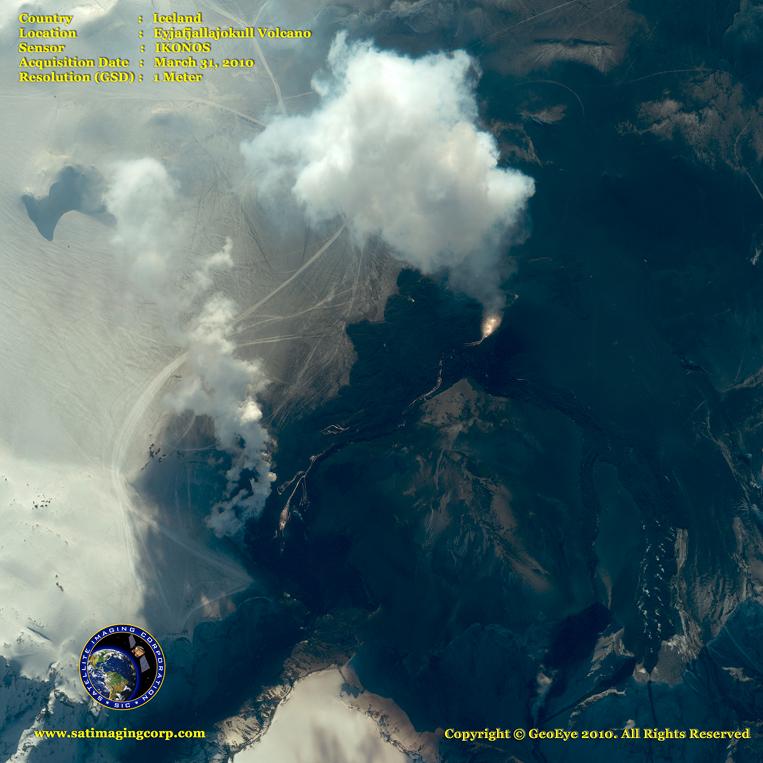 IKONOS Satellite Image of Eyjafjallajokull