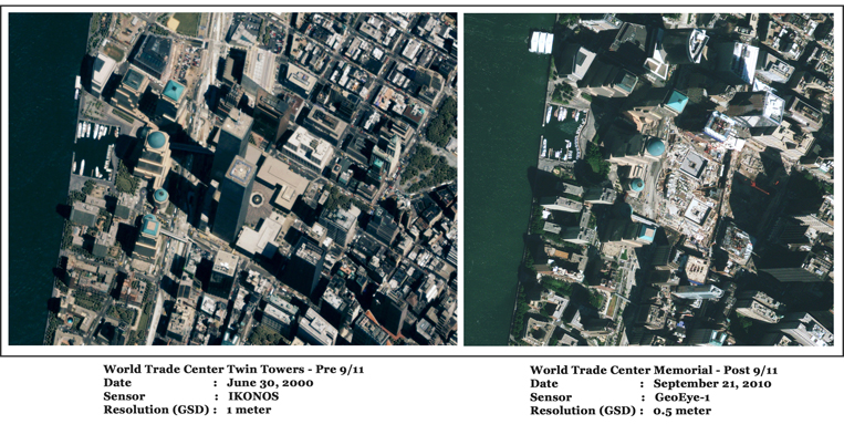 GeoEye-1/IKONOS Satellite Image of WTC